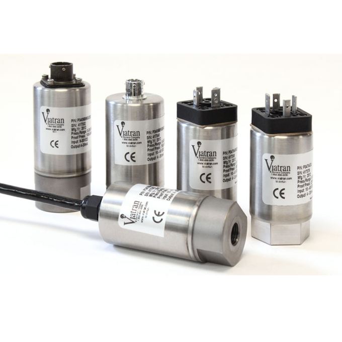 <p>Viatran general purpose pressure transmitters / transducers fulfill the need for many applications where a higher accuracy pressure sensor is not a requirement and no special fittings are needed. They are used in a variety of industries from aerospace, automotive, mining, etc. They are available in multiple outputs: mV/V; V; and mA.  Use the Product Selector and find the product(s) that meet your criteria.</p>