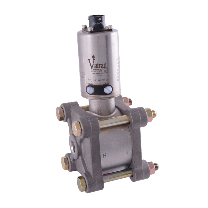 <p>Viatran differential pressure transmitters measure the difference between two points. These pressure transmitters are available in various outputs (mV/V, V, mA and digital). Click on your output requirement on the right to find the best pressure transmitter for you.</p>