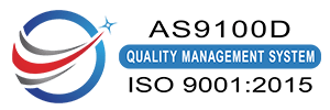Viatran's AS9100D | ISO 9001:2015 Quality Management System Logo Version 2
